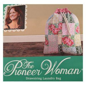 Pioneer Woman Patchwork Drawstring Laundry Bag